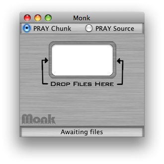 Monk, ready to use CAOS2PRAY.